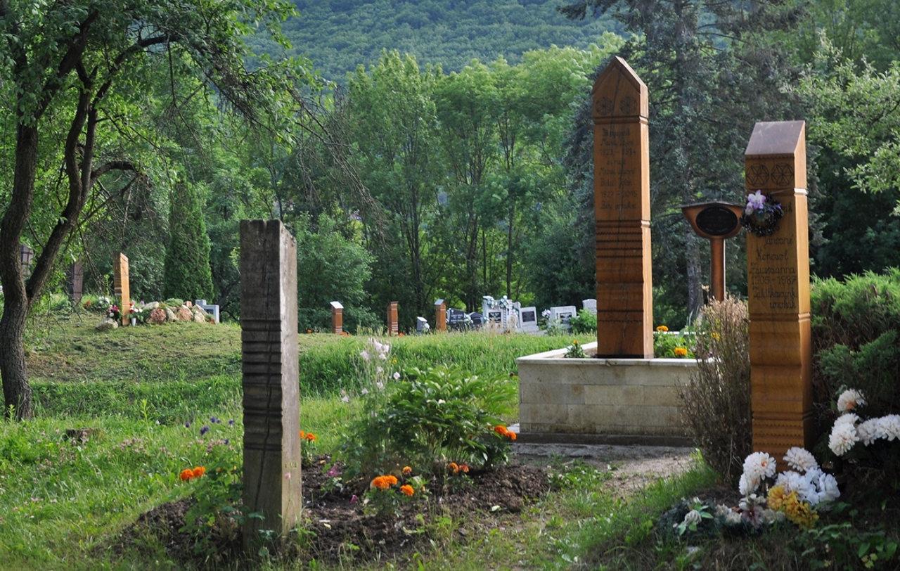 Telkibánya, kopjafás temető